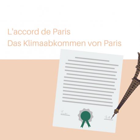 L'accord de Paris – Das Klimaabkommen von Paris